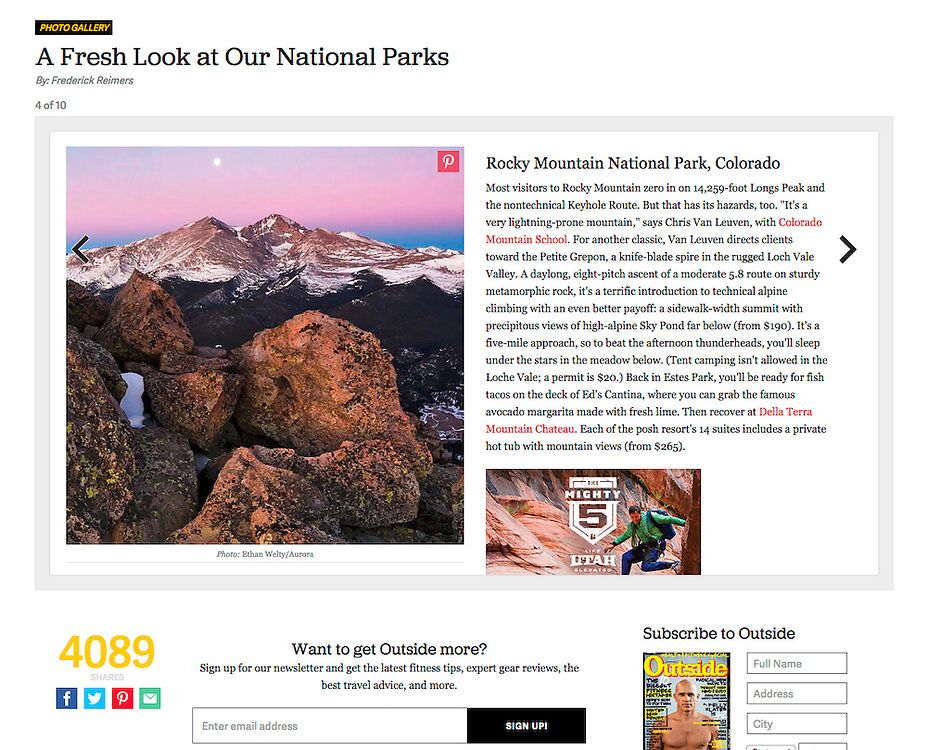 Outside: A Fresh Look at Our National Parks (May 2014)