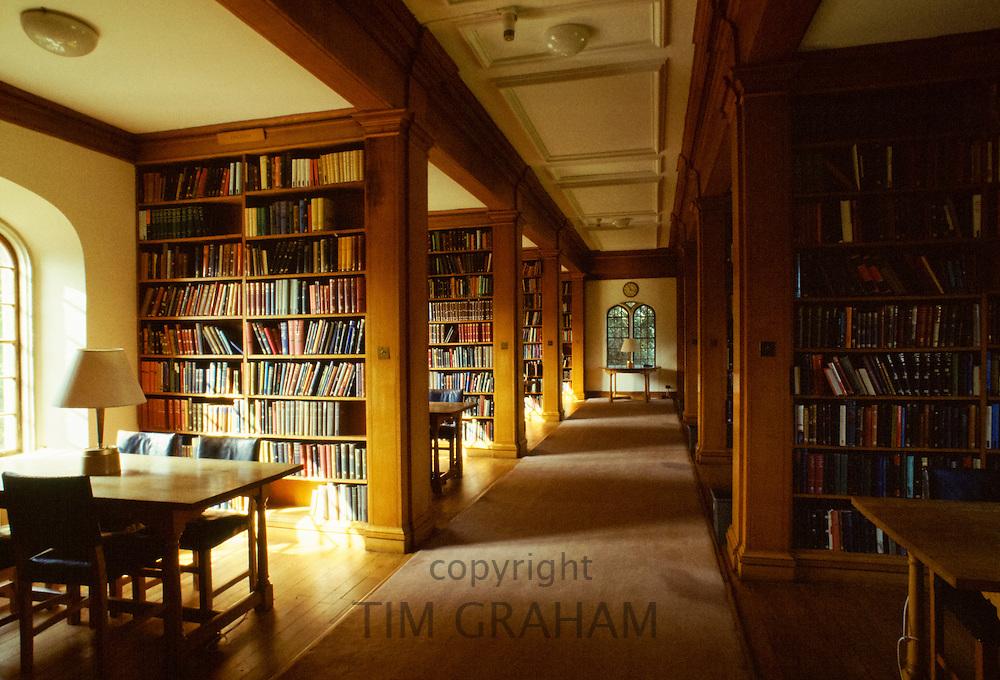 Library at Jesus College, Cambridge University, England, UK