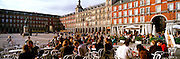 SPAIN, MADRID, MONUMENTS Plaza Mayor; with cafes, tapa bars