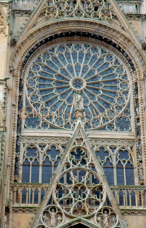 France, Normandy.  Rouen.  Cathedrale Notre-Dame - detail Cour des Libraires