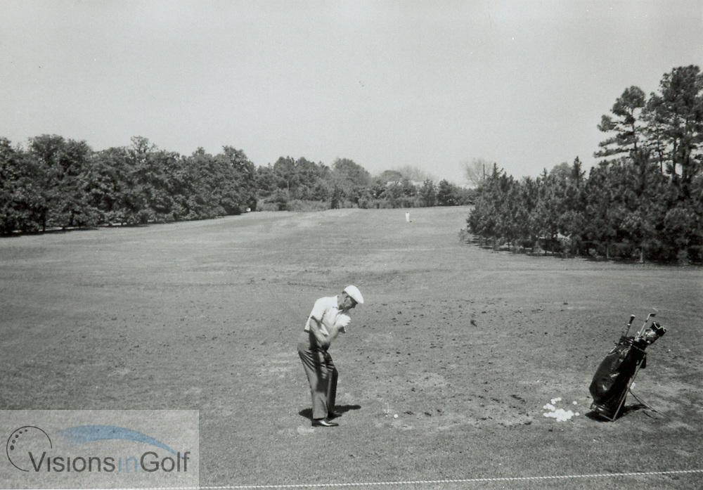 Ben Hogan practicing c1967<br /> <br /> Picture Credit: &copy;Visions In Golf