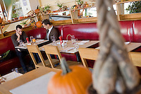 8 October, 2008. New York, NY. Customers have breakfast at the Cookshop Restaurant & Bar in Chelsea, NYC.<br /> <br /> ©2008 Gianni Cipriano for The New York Times<br /> cell. +1 646 465 2168 (USA)<br /> cell. +1 328 567 7923 (Italy)<br /> gianni@giannicipriano.com<br /> www.giannicipriano.com