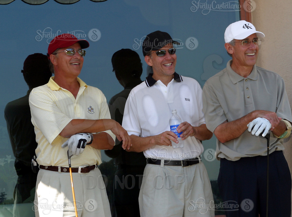 Sep 23, 2002; Pacific Palisades, California, USA; Actor DON JOHNSON with Transamerica golfers at the first hole of the Fifth Annual AFI Golf Classic @ the Riviera Country Club.<br />Mandatory Credit: Photo by Shelly Castellano/ZUMA Press.<br />(&copy;) Copyright 2002 by Shelly Castellano
