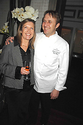 Head chef at The Landau ANDREW TURNER and ALISON WENHAM at a party to promote The Landau at The Langham, Portland Place, London W1 on 7th February 2008.<br />