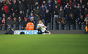 Fulham midfielder, Tom Cairney (10) celebrating scoring opening goal during the Sky Bet Championship match between Fulham and Charlton Athletic at Craven Cottage, London, England on 20 February 2016. Photo by Matthew Redman.