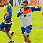 AUS/Seefeld/20100530 - Training NL Elftal WK 2010, Ibrahim Affalay in duel met Stijn Schaars