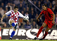 Fotball<br /> EM-kvalifisering<br /> 10.09.2003<br /> Belgia v Kroatia<br /> NORWAY ONLY<br /> Foto: Phot News/Digitalsport<br /> <br /> Daniel Van Buyten - Belgia<br /> Nico Kovac - Kroatia