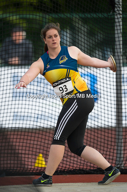 Melanie Pingeon - Disque - 09.06.2015 - Meeting de Montreuil<br />Photo : Andre Ferreira / Icon Sport