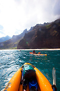 Kayaking, Kalalau Beach, Napali Coast, Kauai, Hawaii