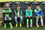 Mascots during the EFL Sky Bet League 2 match between Forest Green Rovers and Macclesfield Town at the New Lawn, Forest Green, United Kingdom on 13 April 2019.