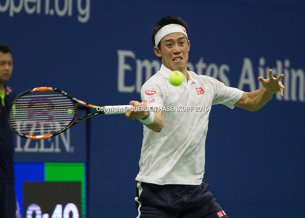 KEI NISHIKORI (JPN)<br /> <br /> Tennis - US Open 2016 - Grand Slam ITF / ATP / WTA -  USTA Billie Jean King National Tennis Center - New York - New York - USA  - 9 September 2016.