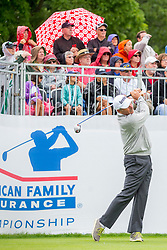 June 22, 2018 - Madison, WI, U.S. - MADISON, WI - JUNE 22: Fred Couples tees off on the first tee during the American Family Insurance Championship Champions Tour golf tournament on June 22, 2018 at University Ridge Golf Course in Madison, WI. (Photo by Lawrence Iles/Icon Sportswire) (Credit Image: © Lawrence Iles/Icon SMI via ZUMA Press)