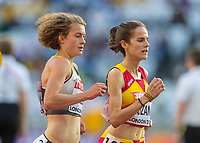 Athletics - 2017 IAAF London World Athletics Championships - Day Seven, Evening Session<br /> <br /> Womens 5000m Round One<br /> <br /> Alina Reh (Germany) works her way through the pack at the London Stadium<br /> <br /> COLORSPORT/DANIEL BEARHAM