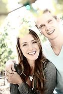 Couple at Dancing Vineyards, Medford, Oregon, USA.Model release 0250,0251