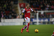 Rotherham United midfielder Danny Ward (9) goal scorer in action during the Sky Bet Championship match between Rotherham United and Brighton and Hove Albion at the New York Stadium, Rotherham, England on 12 January 2016.
