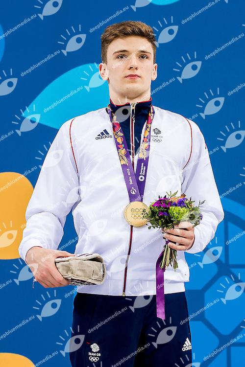 LEE Matthew GBR<br /> Platform Men Final Diving<br /> 1st European Olympic Games <br /> Baku Azerbaijan 12-28/08/2015<br /> Photo Andrea Masini/Deepbluemedia/Insidefoto