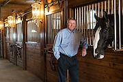 Congressman Frank Lucas at Express Clydesdale Ranch for Oklahoma Living Magazine