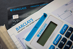 A Barclays Bank cheque book, online banking PINSentry and cheque book. Barclays is currently the 6th most valuable British brand, according to analysts Brand Finance's directory. Picture date: Friday March 10, 2017. Photo credit should read: Matt Crossick/ EMPICS Entertainment.