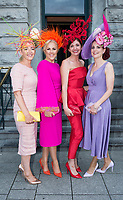 03/08/2017   Repro free   Elaine Kellerher, , Mary Stapleton, Carol Kennelly, and Joanne Murphy from Kerry  at Hotel Meyrick for Galway's 'Most Stylish Lady' Competition, at a glamorous evening reception in the Parlour Lounge of Hotel Meyrick on Ladies Day of the Galway Races. Head judge this year was the stunning Lorraine Keane,  assisted by fellow fashion experts Mandy Maher owner of Catwalk Modelling Agency and Irish model, Mary Lee.  Photo: Andrew Downes, xposure