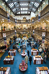 Interior view of atrium inside famous Jenners Department Store on Princes Street in Edinburgh Scotland
