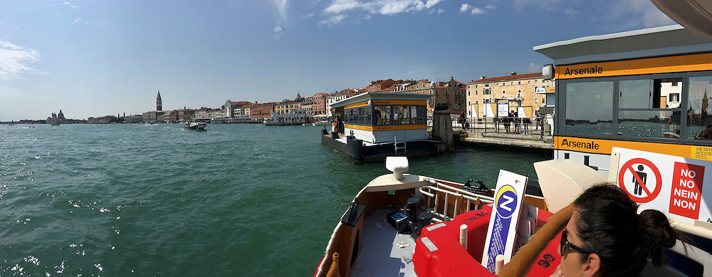"Venice, Italy - 15th Architecture Biennale 2016, ""Reporting from the Front"".<br /> Aboard a vaporetto."
