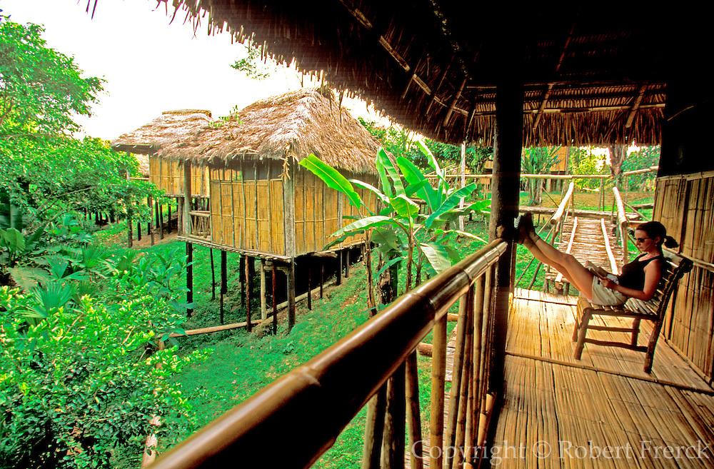 ECUADOR, AMAZON, ADVENTURE TRAVEL Amazon Basin, Napo River (tributary); La Selva Jungle Lodge; individual cabanas surrounded by rainforest