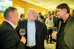 Tugomir Frajman, Rudi Zavrl and Ranko Stojic during traditional New Year Gala Night Reception of NZS - Football Association of Slovenia, on December 14, 2015 in Kongresni center, Brdo pri Kranju, Slovenia. Photo by Vid Ponikvar / Sportida