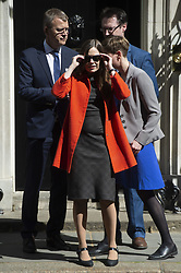 May 2, 2019 - London, London, UK - London, UK. Prime Minister of Iceland Katrin Jakobsdottir leaves No.10 Downing Street after a meeting with British Prime Minister Theresa May. (Credit Image: © Ray Tang/London News Pictures via ZUMA Wire)