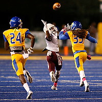 Thomas Wells | Buy at PHOTOS.DJOURNAL.COM<br /> Horn Lake receiver Kyvontae Boykins comes up a just short and can't bring down the pass as the Eagles fell beind 25-0 against Tupelo.