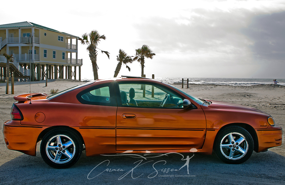A 2004 Pontiac GrandAm is pictured on the west end of Dauphin Island, Ala., Dec. 4, 2011. (Photo by Carmen K. Sisson/Cloudybright)