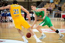 Luka Samanic of Petrol Olimpija during basketball match between KK Sixt Primorska and KK Petrol Olimpija in semifinal of Spar Cup 2018/19, on February 16, 2019 in Arena Bonifika, Koper / Capodistria, Slovenia. Photo by Vid Ponikvar / Sportida
