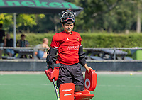 BLOEMENDAAL   -  keeper Lauren Logush (Vict) oefenwedstrijd dames Bloemendaal-Victoria, te voorbereiding seizoen 2020-2021.   COPYRIGHT KOEN SUYK