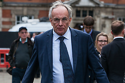 London, UK. 15th November, 2018. Peter Bone, Conservative MP for Wellingborough, appears on College Green in Westminster following the Cabinet resignations of Brexit Secretary Dominic Raab and Work and Pensions Secretary Esther McVey the day after Prime Minister gained Cabinet approval of a draft of the final Brexit agreement
