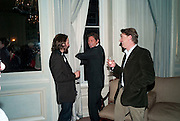 ARKI BUSSON; SCOTT DOUGLAS, Dinner to mark 50 years with Vogue for David Bailey, hosted by Alexandra Shulman. Claridge's. London. 11 May 2010 *** Local Caption *** -DO NOT ARCHIVE-© Copyright Photograph by Dafydd Jones. 248 Clapham Rd. London SW9 0PZ. Tel 0207 820 0771. www.dafjones.com.<br /> ARKI BUSSON; SCOTT DOUGLAS, Dinner to mark 50 years with Vogue for David Bailey, hosted by Alexandra Shulman. Claridge's. London. 11 May 2010
