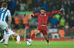 LIVERPOOL, ENGLAND - Friday, April 26, 2019: Liverpool's Joe Gomez during the FA Premier League match between Liverpool FC and Huddersfield Town AFC at Anfield. (Pic by David Rawcliffe/Propaganda)