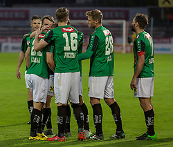 15.04.2016, Franz Fekete Stadion, Kapfenberg, AUT, 2. FBL, KSV 1919 vs FC Wacker Innsbruck, 28. Runde, im Bild das Team von FC Wacker Innsbruck nach dem 2:1 gegen KSV 1919 // during the Austrian Erste Liga Match, 28 th Round, between KSV 1919 and FC Wacker Innsbruck at the Franz Fekete Stadium, Kapfenberg, Austria on 2016/04/15, EXPA Pictures © 2016, PhotoCredit: EXPA/ Dominik Angerer