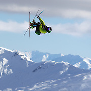 Nicholas Goepper, USA, in action during his third place finish in the Freeski Slopestyle Men's Final at Snow Park, New Zealand during the Winter Games. Wanaka, New Zealand, 18th August 2011. Photo Tim Clayton
