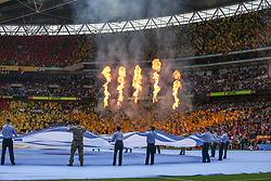 A general view as the flames go off - Mandatory by-line: Arron Gent/JMP - 18/05/2019 - FOOTBALL - Wembley Stadium - London, England - Manchester City v Watford - Emirates FA Cup Final