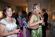 JENNY CHURCHILL; KARINI GUSTAFSON, An exhibition of watercolours by William Rayner at Mallet's, New Bond St. Party afterwards at Bellami's, bruton Place. London. 16 June 2010. .-DO NOT ARCHIVE-© Copyright Photograph by Dafydd Jones. 248 Clapham Rd. London SW9 0PZ. Tel 0207 820 0771. www.dafjones.com.