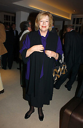 LADY ANTONIA FRASER at a party to celebrate the publication of Diana by Sarah Bradford held at 80 The Strand, London on 27th September 2006.<br />