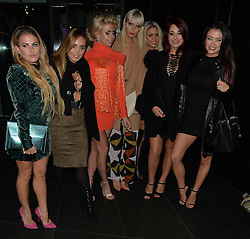 Nadia Essex, Hannah Elizabeth, Bianca Gascoigne, Jess Impiazzi and Jessica Hayes attend Jasmin Walia's clothing launch party at the W Hotel in London, UK. 10/11/2015<br /> BYLINE MUST READ : GOTCHAIMAGES.COM<br /> <br /> Copyright by © Gotcha Images Ltd. All rights reserved.<br /> Usage of this image is conditional upon the acceptance <br /> of Gotcha Images Ltd, terms and conditions available at<br /> www.gotchaimages.com