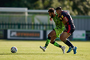 Dominic Bernard of Forest Green Rovers under pressure during the EFL Sky Bet League 2 match between Forest Green Rovers and Stevenage at the New Lawn, Forest Green, United Kingdom on 21 September 2019.
