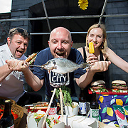 30.05.2018.             <br /> Limerick Food Group will hold Urban Food Fest street food evening in the Milk Market on Thursday June 14th with a 'Summer Fiesta' theme in one big Limerick city summer party.<br /> <br /> Pictured launching the event were, Tom Flavin, Executive Chef, The Strand Hotel, Stephen Cunneen, Treaty City Brewery and  Olivia O'Sullivan, eatinlimerick.ie.<br />  <br /> Record crowds of 6,000 people turned out for Urban Food Fest in 2016 for Limerick Food Group's first event and the voluntary community group has gone from strength to strength since, with last year's event taking place as part of the Pigtown Culture & Food Series in September.. Picture: Alan Place