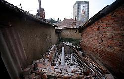 PRISTINA, KOSOVO - DECEMBER 14 - tipicen pogled