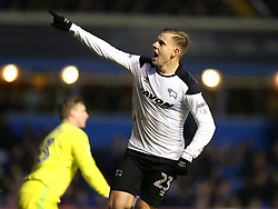Derby County's Matej Vydra celebrates scoring his side's second goal of the game