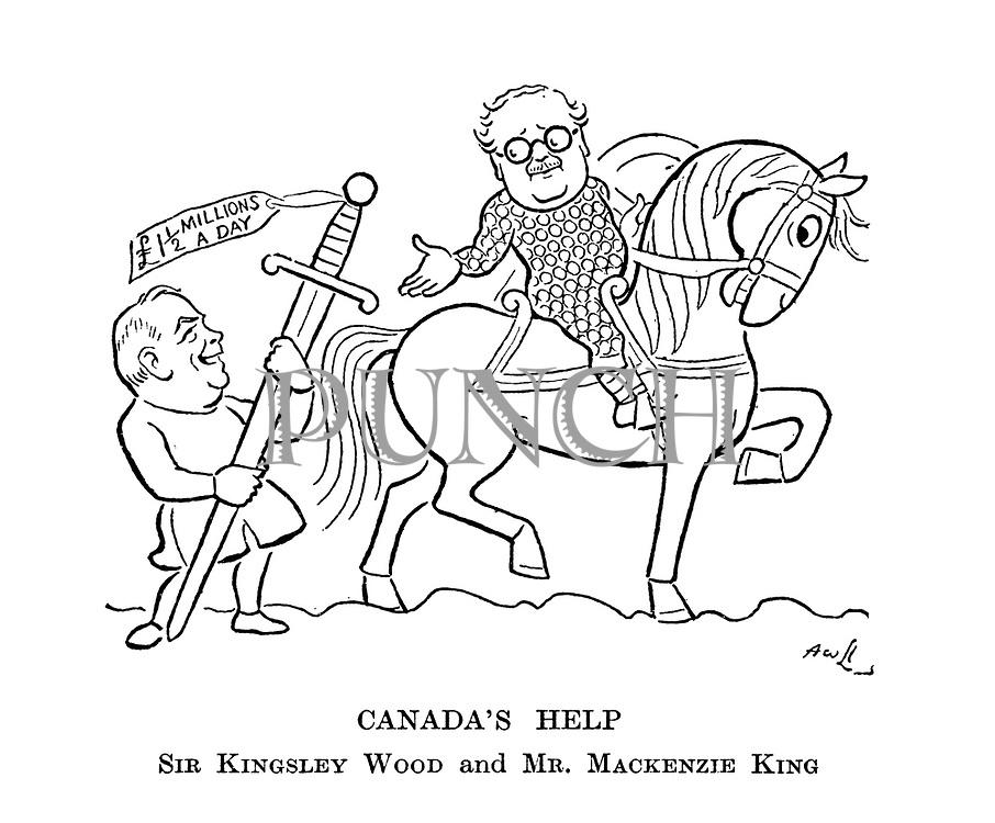 Canada's Help. Sir Kingsley Wood and Mr. Mackenzie King