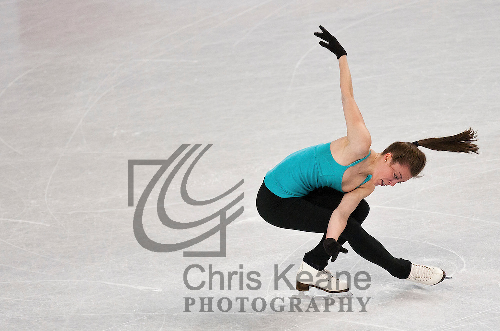 Ashley Wagner skates in a practice session during the U.S. Figure Skating Championships in Greensboro, North Carolina on January 25, 2011. REUTERS/Chris Keane (UNITED STATES)