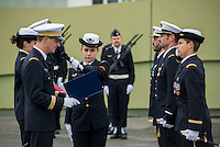LYON, FRANCE - DECEMBER 10: Members of the armed forces attend the 40th anniversary of Base Aerienne 942 at the NATO base shelters the Headquarters Air Defense Command and the French National Centre for Air Operations on December 10, 2014 in Lyon, France. (Photo by Bruno Vigneron/Getty Images)