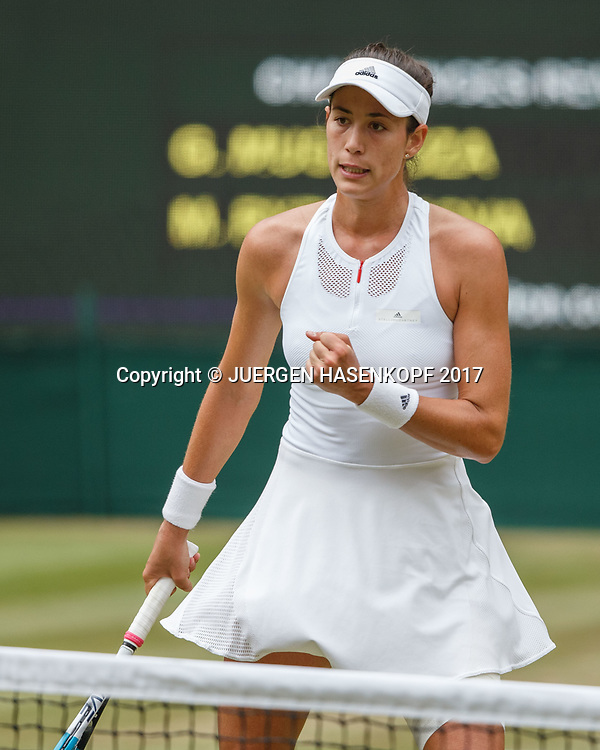 GARBI&Ntilde;E MUGURUZA (ESP) macht die Faust und jubelt,Jubel,Emotion,<br /> <br /> Tennis - Wimbledon 2017 - Grand Slam ITF / ATP / WTA -  AELTC - London -  - Great Britain  - 13 July 2017.