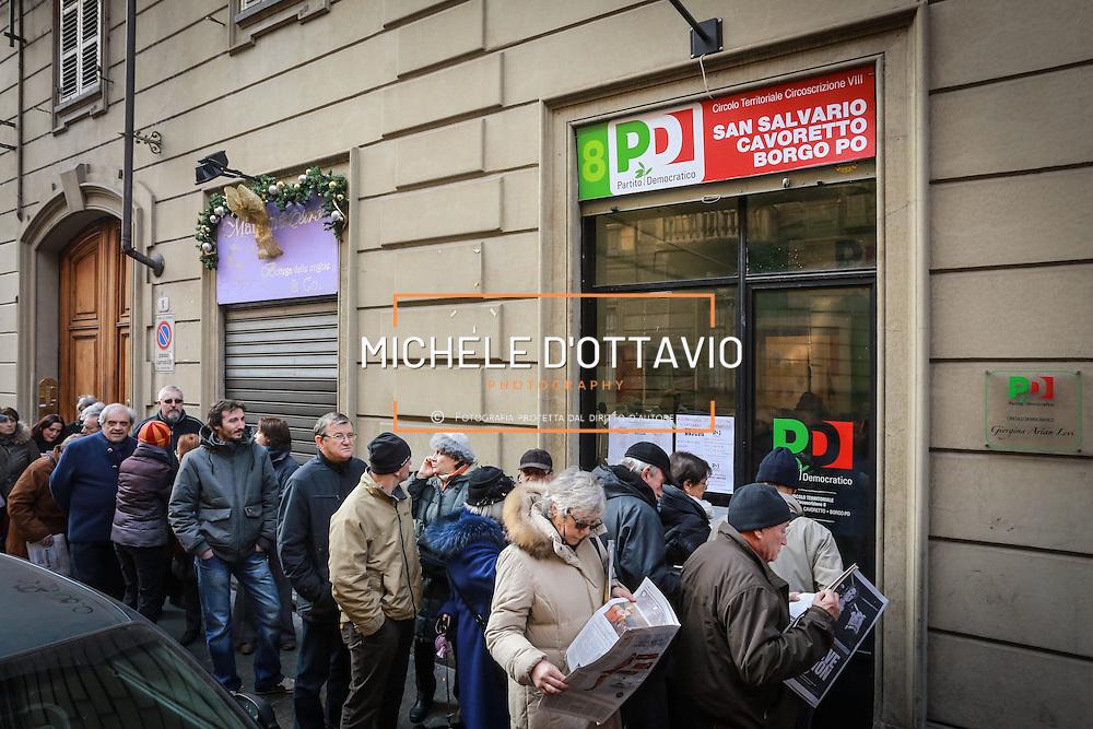Primarie per la scelta del segretario del Partito democratico, Torino 8 dicembre 2013